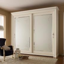 Portale Armadio Specchi Bianco Antiquariato